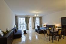 Wohnung Nr 6 - Gästezimmer, Wohnzimmer, Sofa, Couchtisch, TV - Danzig Miete