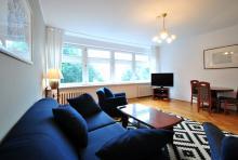 Appartement Nr. 2 - Wohnzimmer, Wohnzimmer, Sofa, Couchtisch, TV