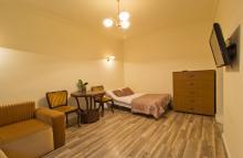 Apartment No. 8 - Great Room, living room, sofa, bed, TV - gdańsk rent